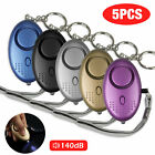 3/5 Pcs Safe Sound Personal Alarm Keychain With LED Light 140DB Emergency Women