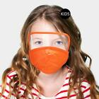 New Children's Kids Extra Protection Mask Face Shield w Filter Absorbs Anti Fog