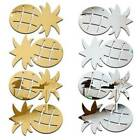12pcs Pineapple Shape Wall Sticker 3d Mirror Decals Home Decor Diy Self-adhesive