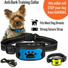 'Rechargeable Anti Bark Collar Stop Dog Barking No Shock Sound & Vibration Device