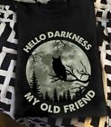 Night Moon Owl Hello Darkness My Old Friend Cotton T-shirt