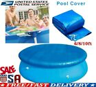 6/8/10Ft Round Swimming Easy Set Pool Cover for Frame Pools Inflatable Fast New