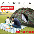 Outdoor 2-3 Person 4 Season Camping Hiking Waterproof Folding Tent Camouflage *