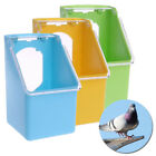 Plastic Bird Parrot Food Water Bowl Pigeons Pet Cage Cup Feeder Feeding Supplies