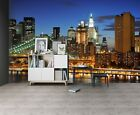 3D Night City Bridge ZHUA2366 Wallpaper Wall Murals Removable Self-adhesive Amy