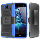 For LG X Charge / X Power 2 / Fiesta 2 LTE Rugged Case Cover Belt Clip Holster