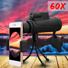 40x60 Zoom Monocular HD Telescope Telephoto Camera Lens w/ Bag Tripod Phone Clip