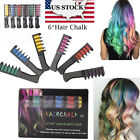 US Hair Color Pen Temporary Chalk Changing Comb Kit 6 Color Washable Disposable
