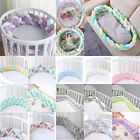 4 Braided Thicken Infant Crib Soft Breathable Fence Baby Bed Protection Cushion