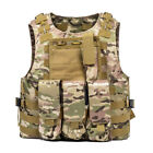 Military Tactical Vest w/Flag Patch Molle Combat Assault Plate Carrier Holder USChest Rigs & Tactical Vests - 177891