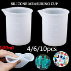 4-6pcs 100ml Silicone Measuring Cup Resin Glue Diy Tool Jewelry Measuring Cup