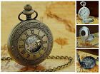 Jakob Strauss Antique Vintage Style Date Pocket Watch Chain xmas Gift For Him