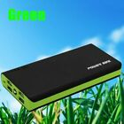 5000000mAh LCD External Backup Battery Charger 4 USB Power Bank for Phone USA