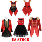 US Kids Baby Girl Ringmaster Circus Costume Themed Party Romper Tutu Fancy Dress