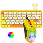 84-Key Wireless Bluetooth Keyboard and Lightweight RGB Mouse For Android Ipad PC