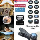 10 in 1 Cell Phone Camera Lens Kit Wide Angle Lens and Macro Lens+Fisheye & Clip