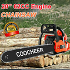 COOCHEER 62CC 20 Gas Chainsaw Handed Petrol Chain Woodcutting 2 Cycle 4HP B e 04