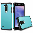 For LG X Charge /X Power 2/Fiesta LTE Case ShockProof Hard Cover +Tempered Glass