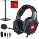 Gaming Headset 3.5mm MIC Stereo Headphones For PC PS4 Xbox One Nintendo Switch N