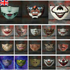 Halloween face mask funny scary fashion Washable Reusable face covers horror 3D
