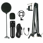 Condenser Microphone Kit Broadcasting Studio Recording Professional Mic Arm Kit
