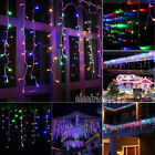 65FT LED Icicle Curtain String Fairy Droop Lights Home Garland Xmas Decor Lamp