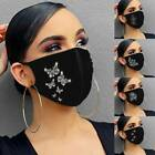Breathable Face Mask Crystal Rhinestone Glitter Sparkle Reusable Face Covering