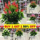 Realistic Artificial Potted Flowers Plants In Pot Outdoor Home Garden Decor B1uk