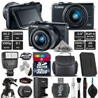 Canon EOS M100 Mirrorless Digital Camera with 15-45mm Lens + Flash - 32GB Kit