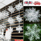 10&30PCS Christmas White Snowflakes Decorations Xmas Tree Party Ornaments
