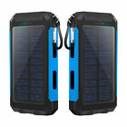 900000mAh Power Bank Solar Charger USB LED Polymer Battery for Phone Pack Backup