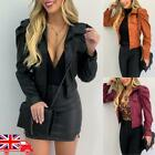 'New Womens Leather Puff Sleeve Coat Ladies Cropped Jacket Blazer Bomber Tops Uk