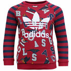 Adidas Originals Red Navy Striped Birds Kids Long Sleeve Track Suit S95941 A1E