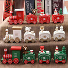 Christmas Wooden Train Santa Ornament Xmas Party Table Home Decoration Toy Gifts