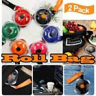 2pcsportable Tote In Pouch Reusable Folding Eco Shopping Shoudler Bags Roll Bag