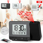 Digital Projector Alarm Clock Weather Calendar FM Radio LED Snooze USB Dimmable
