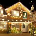 CHRISTMAS 8M/12M/16M/20M/24 LED ICICLE SNOWING XMAS CHASER LIGHTS OUTDOOR IN TUB
