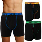 3pk Weatherproof Mens Boxer Briefs Cool Breathable Underwear Active Loungewear