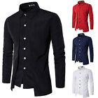 Mens Luxury Formal Shirt Long Sleeve Slim Business Casual Dress Suit Shirts Tops