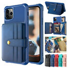 F Iphone 11 Pro Max Xs Xr X 8 7 6 Plus Leather Card Slots Wallet Back Case Cover