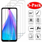 3Pcs Tempered Glass Screen Protector For Xiaomi Redmi Note 9S 9 8 8T 7 6 5 Pro