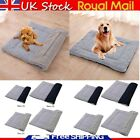 Winter Thick Grey Cage Mat Soft Dog Pet Bed Crate Cushion S/M Sleeping Cover UK