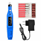 Electric Nail Drill File Acrylic Art File Manicure Pedicure Machine Portable Kit