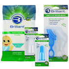 Brilliant Bundle with Tooth Tissues Xylitol Wipes and Silicone Toothbrushes