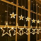 Fairy String Lights 138 LED Twinkle Star Curtain Window Christmas Light Plug in