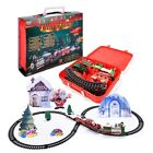 Christmas Train Set Track Electric Rail Car Train Around Tree Decoration Toys