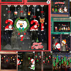 Xmas Christmas Santa Removable Window Stickers Art Decal Wall Home Shop Decor Uk