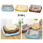Deluxe Soft Washable Dog Pet Bed Warm Basket Cushion with Plush Lining Blanket
