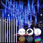 Christmas LED Fairy String Light Meteor Shower Rain Falling Icicle Garden Tree