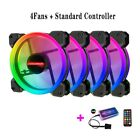 120mm PC Computer Case Fan Cooling Cooler 6PIN Adjustable RGB Led 12V Mute Venti